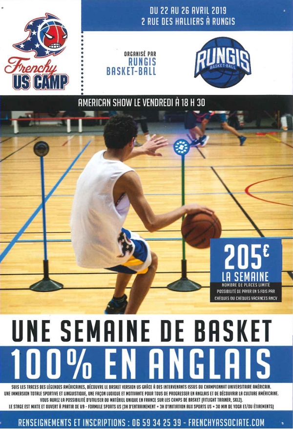 Stage de basket « Frenchy US Camp » à Rungis